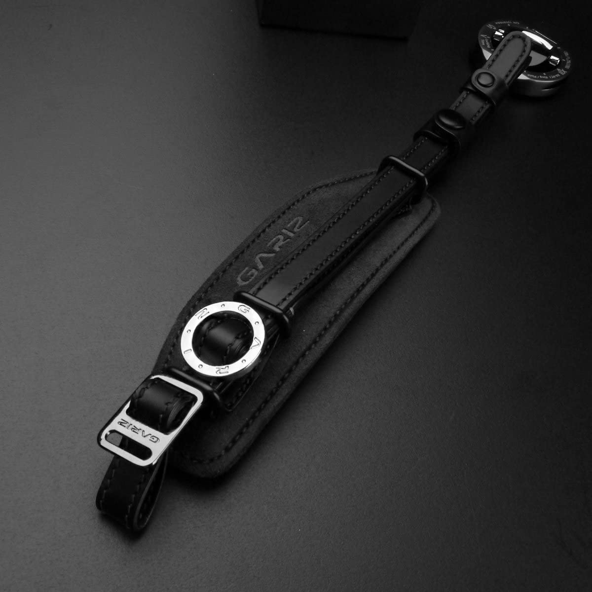 Gariz Genuine Leather AT-HG2//CG1 Alcantara Hand Strap Grip for DSLR with Plate Black