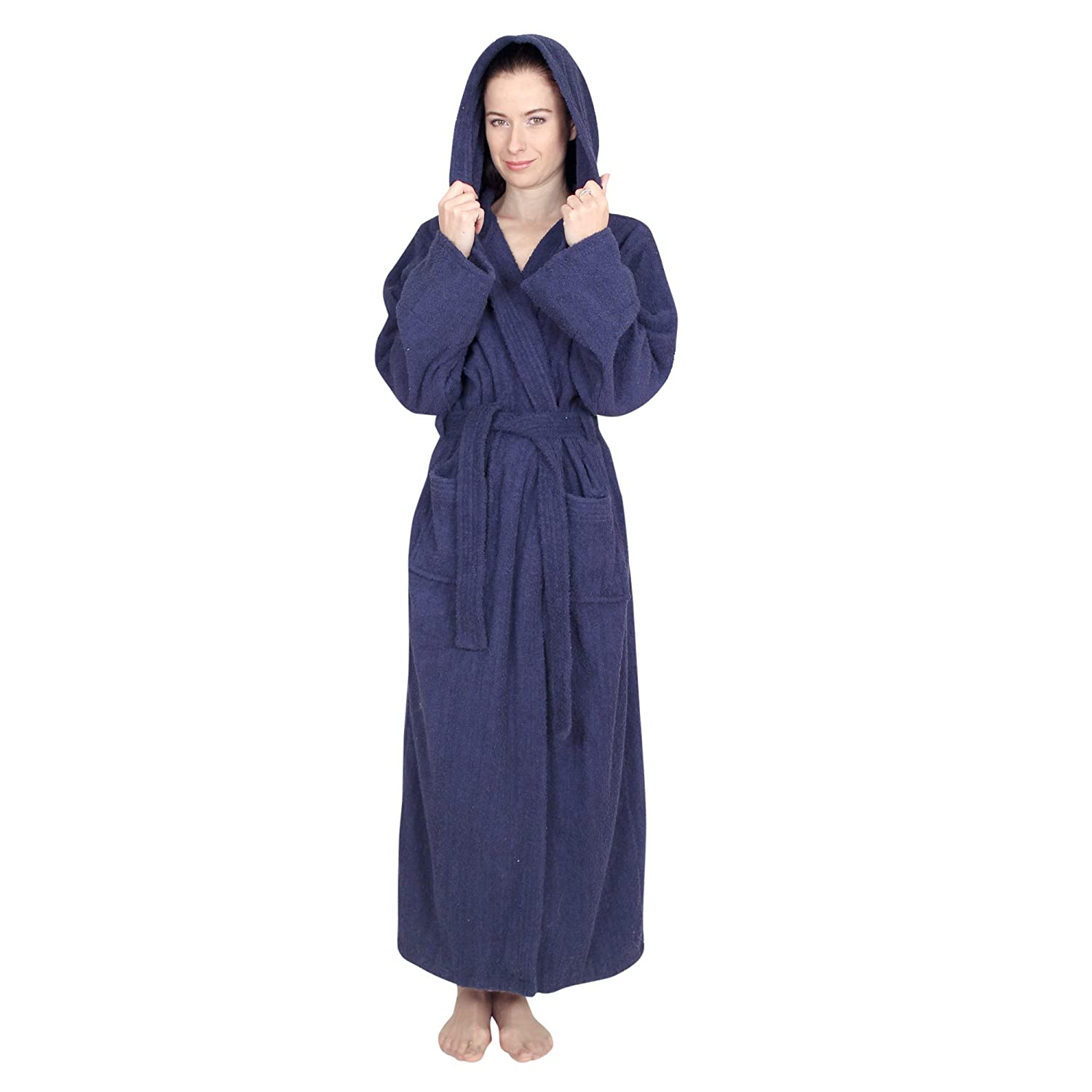 defe285cf5 NDK New York Women s and Men s Hooded Terry Cloth Bath Robe - 100% Cotton  at Amazon Women s Clothing store