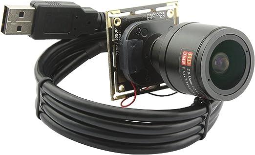 Amazon.com: ELP, 2,8–12milímetros lente varifocal cámara de 2.0megapíxeles USB, módulo de la cámara USB para Android Windows Linux y Mac OS: Camera & Photo