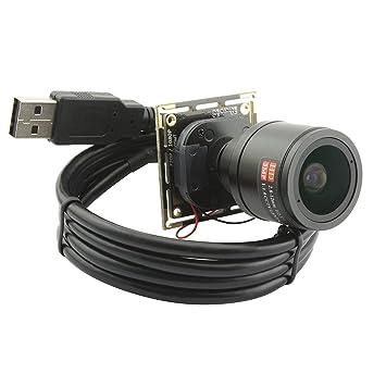 Amazon.com : ELP 2.8-12mm Varifocal Lens 2.0megapixel Usb Camera ...