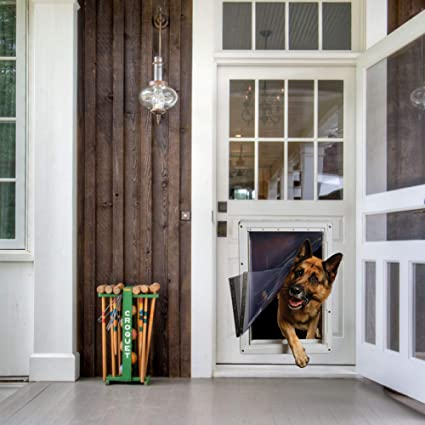 Ideal Pet Products Designer Series Ruff-Weather Pet Door with Telescoping Frame,
