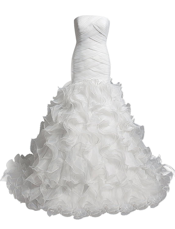 Dresstells Women's A Line Long Sweetheart Prom Dress Evening Dress Wedding Dress With Ruffles