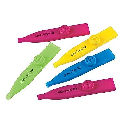 """Fun Express - """"Jesus Loves Me Kazoos - Toys - Noisemakers - Kazoos & Whistles - 12 Pieces: Toys & Games"""