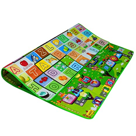Zicac doble cara impermeable bebé niños niñas suave alfombra ...