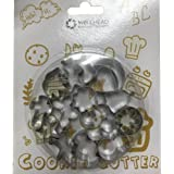 Mini Cookie cutter 16 pcs stainless steel