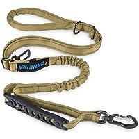 Iokheira Correa para Perros de 5 pies, 4 en 1, Ajustable, con cinturón de Seguridad para el Coche y asa Acolchada…