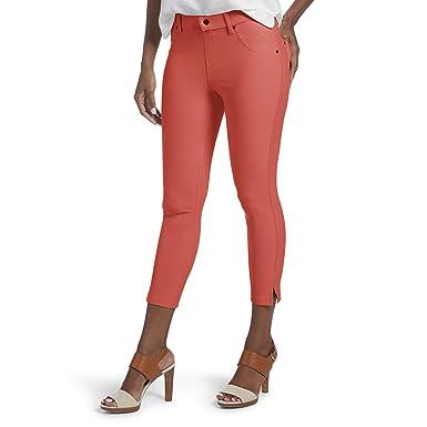 ea49aaa9b361e HUE Women's Ankle Slit Essential Denim Capri Leggings at Amazon Women's  Jeans store