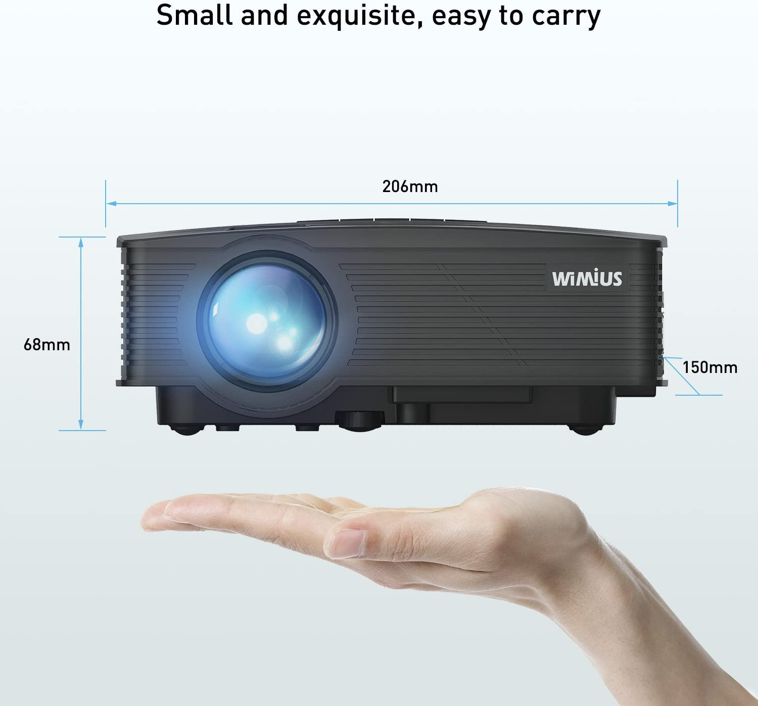 Mini Proyector, Proyectores HD LCD 2600 Lumens Portátil WiMiUS ...