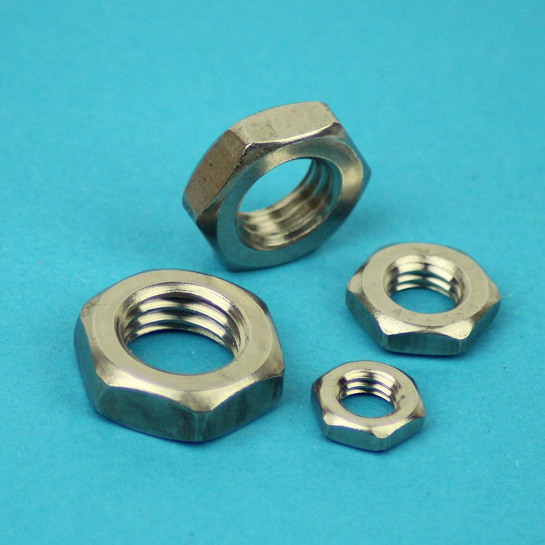 V2A Sechskantmuttern - SC439 niedrige Form rostfreier Edelstahl A2 - M2 - - DIN 439 // ISO 4035 50 St/ück SC-Normteile