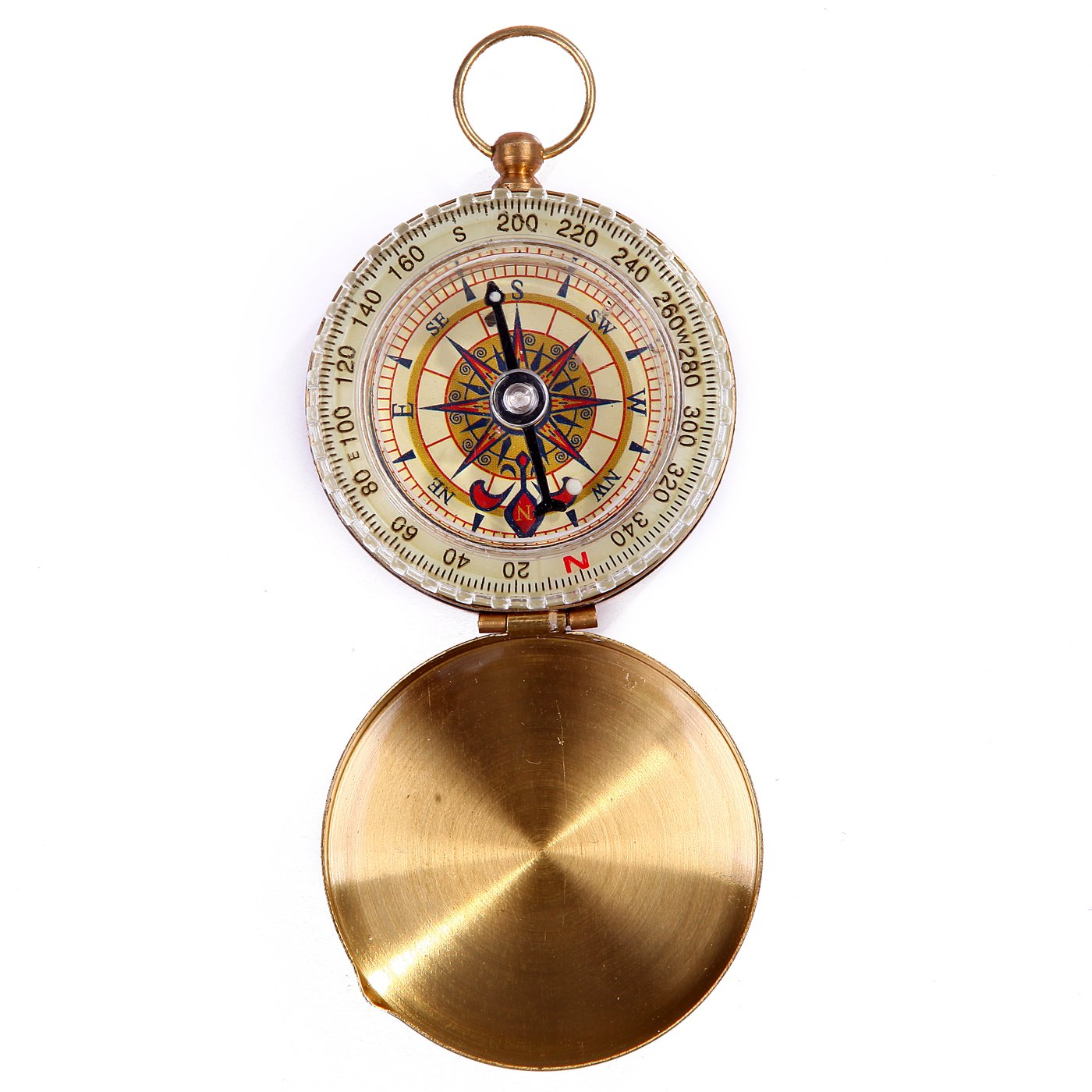 HDE Glow in The Dark Brass Magnetic Pocket Directional Compass for Camping and Hiking