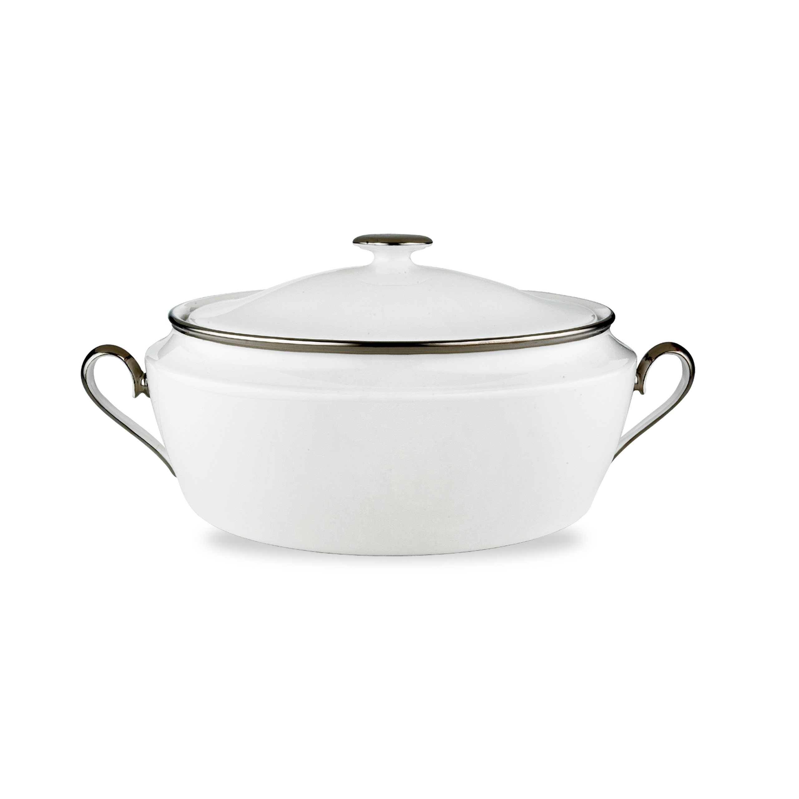 Lenox Solitaire Covered Vegetable Bowl, White