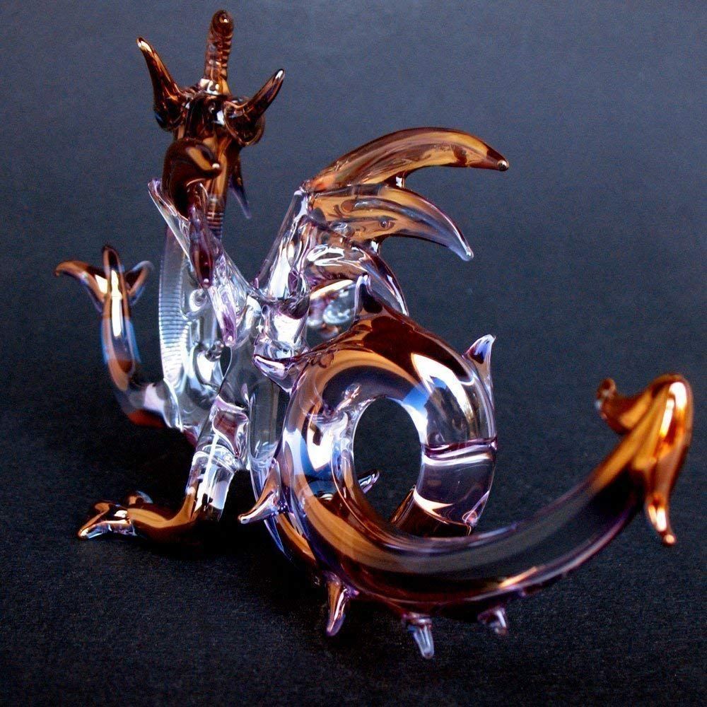 Dragon Medieval Figurine of Hand Blown Glass