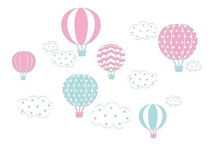 Adesivi sul muro murali decorazione palloncino palloncini nuvole