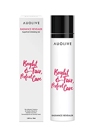 Auolive Award Winning Beadless Face Exfoliator – Best for Exfoliating Removing Dead Skin Cells, Brightening Refining Pores. Gentle Water-based. For Normal, Combination, Dry, Oily or Sensitive.