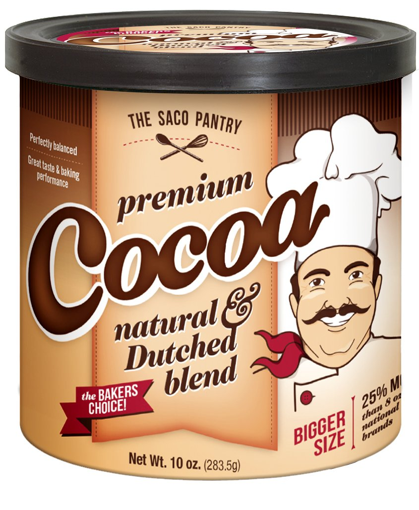 Saco Premium Baking Cocoa, 10-Ounce Canisters (Pack of 12)