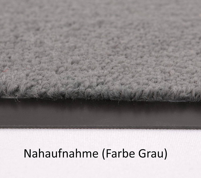 Fußmatte Uni Uni Uni Größe Farbe wählbar, Türvorleger Bodenmatte Schmutzfangmatte Fußabtreter (90 x 120 cm Grau) B01BHV9ROU Fumatten 3ec3db