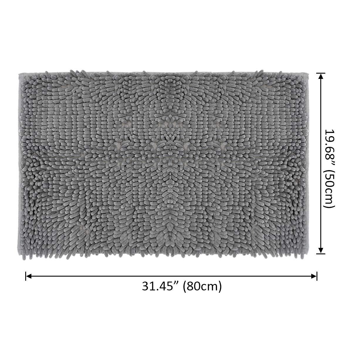 Non Slip Quick Drying Bathroom Mat Carpet and Toilet Seat Cover /… Weaverbird Bath mat 3pcs