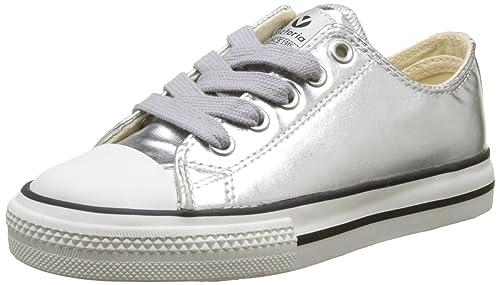 VICTORIA Basket Metálico Autoclave, Zapatillas Unisex Niños, Plateado (Plata), 31 EU: Amazon.es: Zapatos y complementos