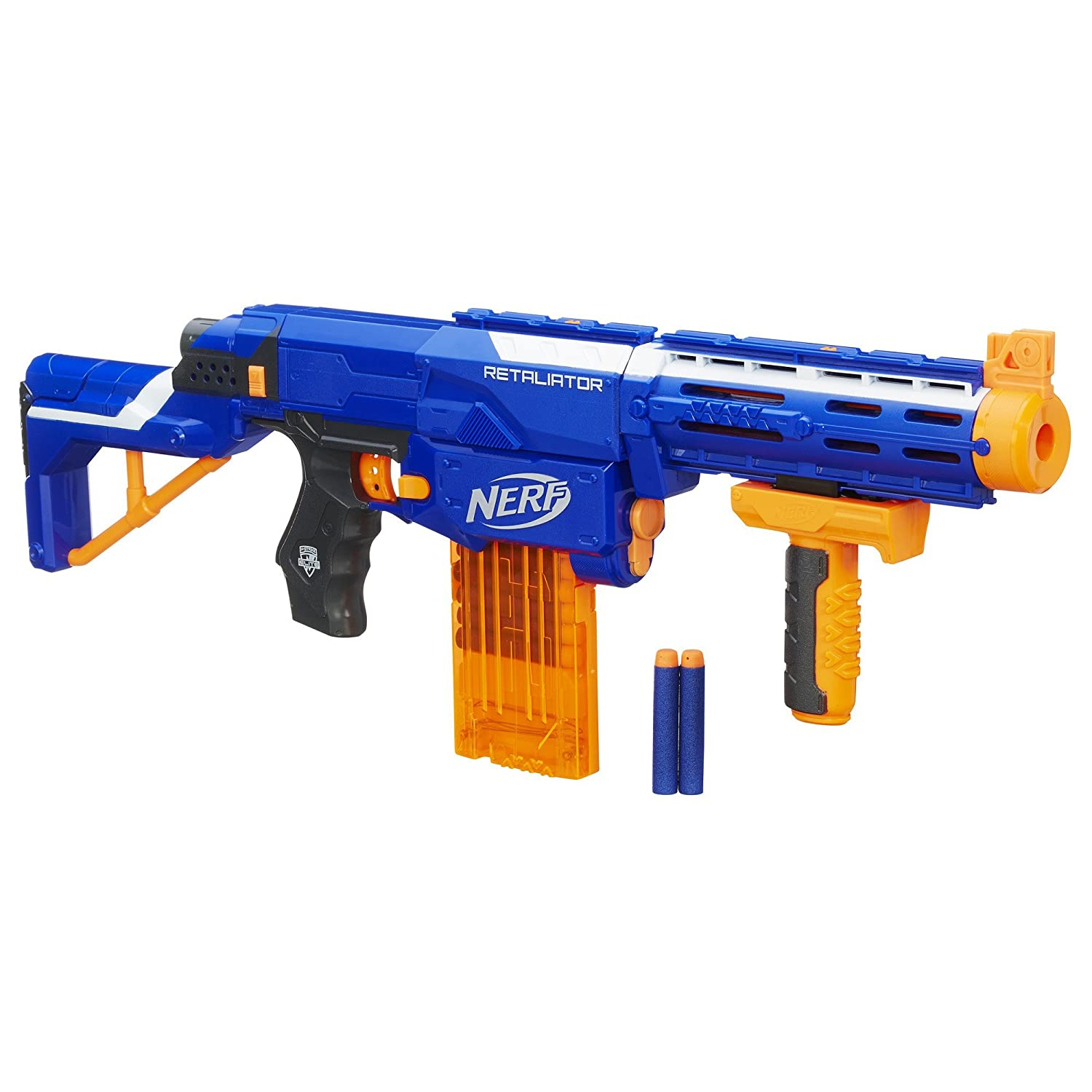 Amazon Nerf B0083 N Strike Elite 4 in 1 Retaliator Blaster 2 7 x 18 9 x 11 5 Inches Toys & Games