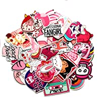 Pink Lollipop Laptop Sticker Pack Cute Girl Rainbow Unicorn Waterproof Vinyls Sticke Decals for Kids Cars Motorcycle Bicycle Skateboard Luggage Bumper Hippie Laser Stickers (50Pcs Pink Sticker)