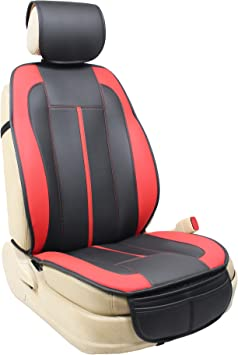 Eaglet Luxury Leatherette Sideless Universal Fit Front Car Seat Cover Solid Black