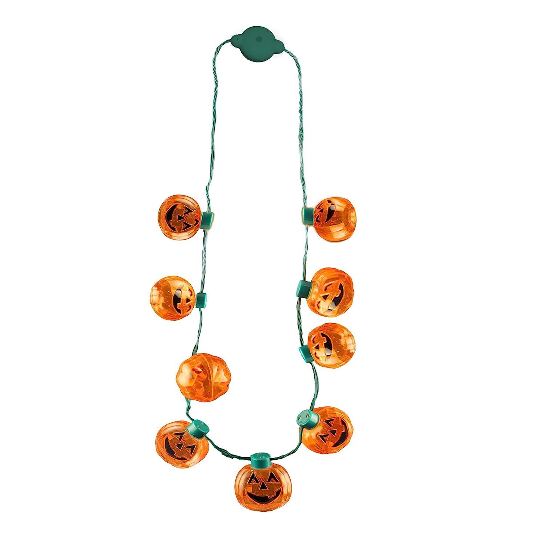 Halloween Pumpkin Lantern Necklace Favors Image 1