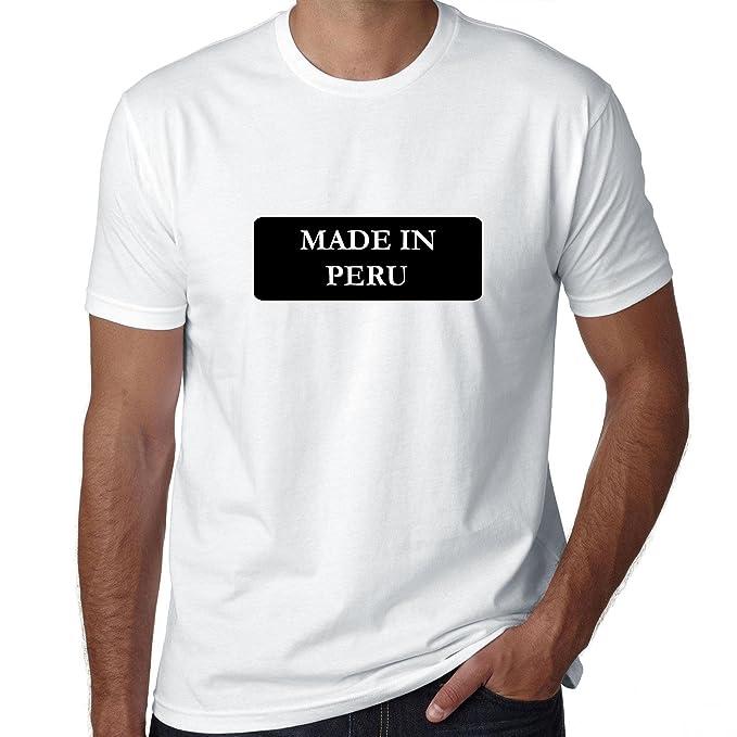 Hip fabricado en Perú país orgullo camiseta para hombre