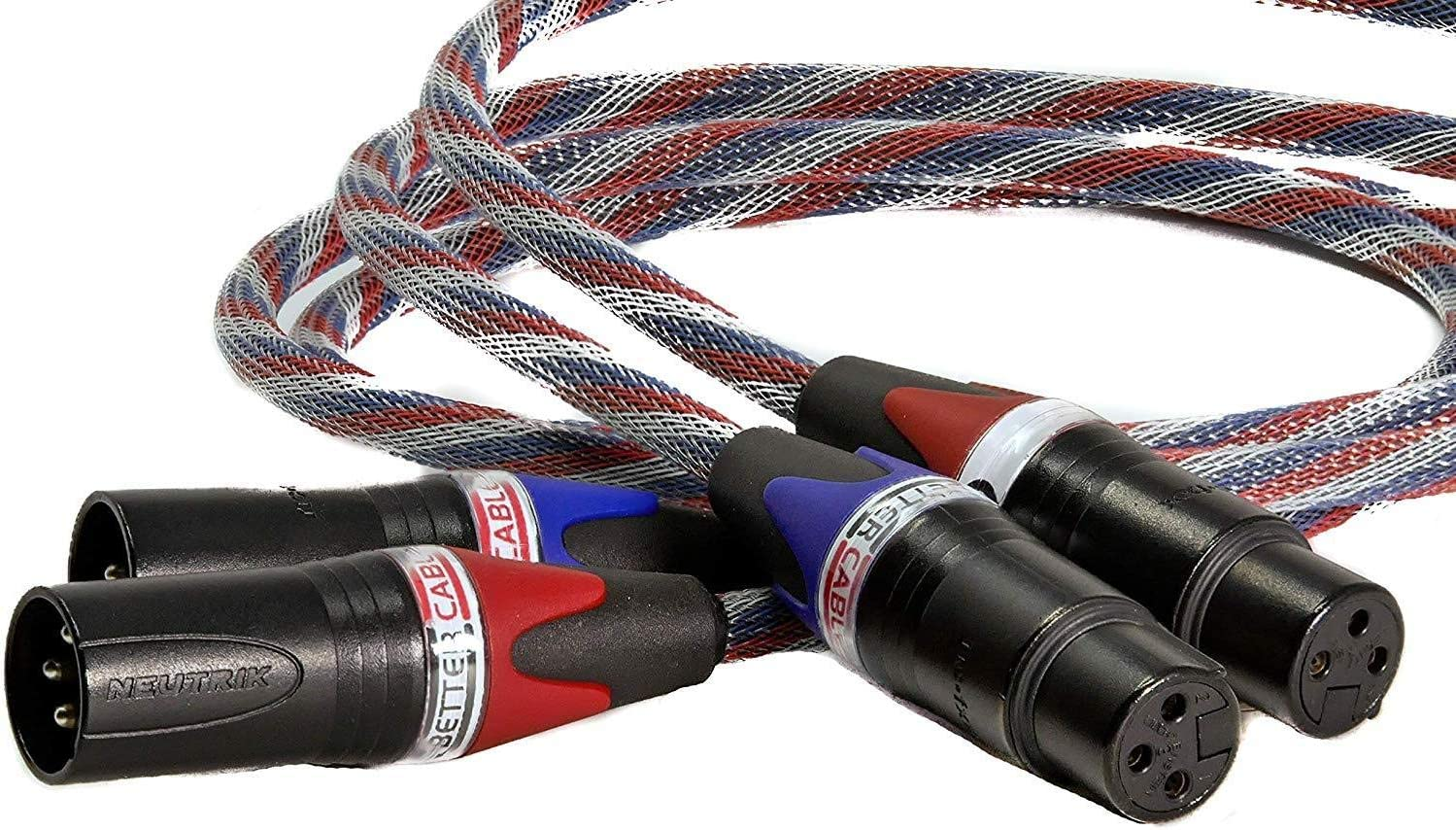 Better Cables Silver Serpent Patriot Edition Balanced XLR Audiophile Audio Cables (Pair - 2 Cables) - High-End, High-Performance, Silver/Copper Hybrid, Low-Capacitance - 6 Feet: Home Audio & Theater