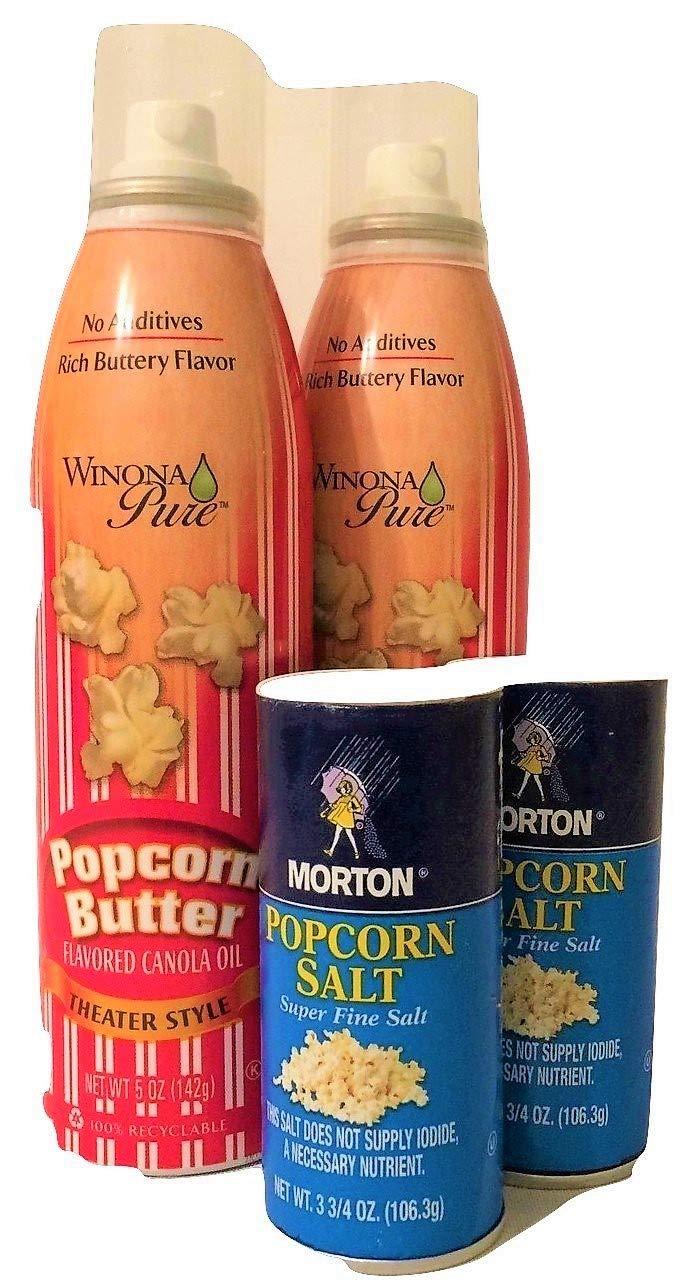 2 botes de mantequilla de palomitas de maíz puro Winona y ...