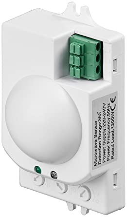 Amazon.com: Kanlux Rolf Microondas Sensor de movimiento de ...