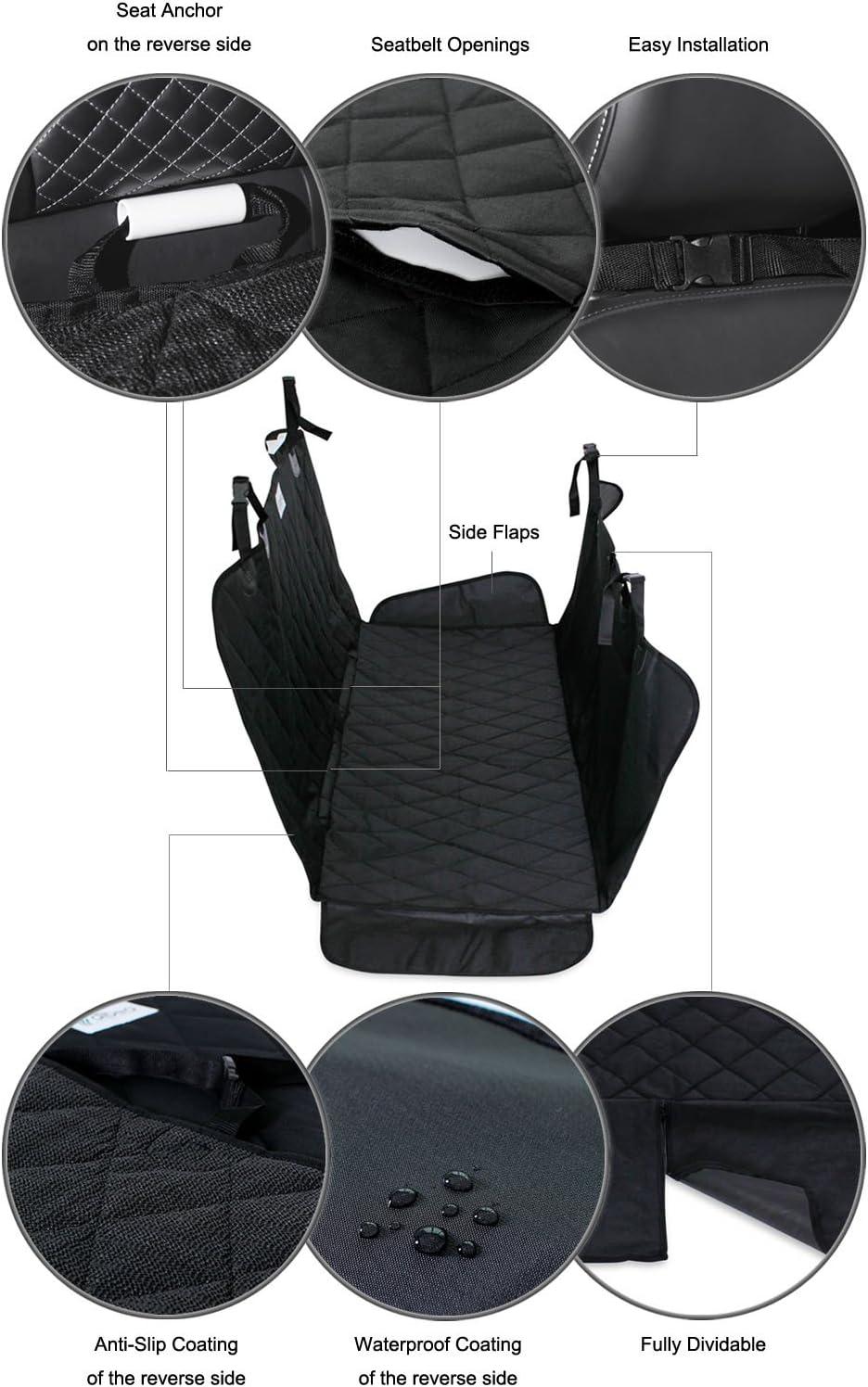 Dibea Autodecke Für Hunde Im Steppdesign Autoschondecke Wasserabweisend Größe 153x138 Cm Haustier