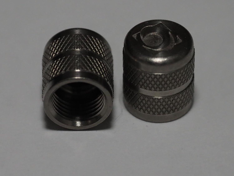 オービトロン チタンエアバルブキャップ チタンシルバー 米式用 B077QX7RB4
