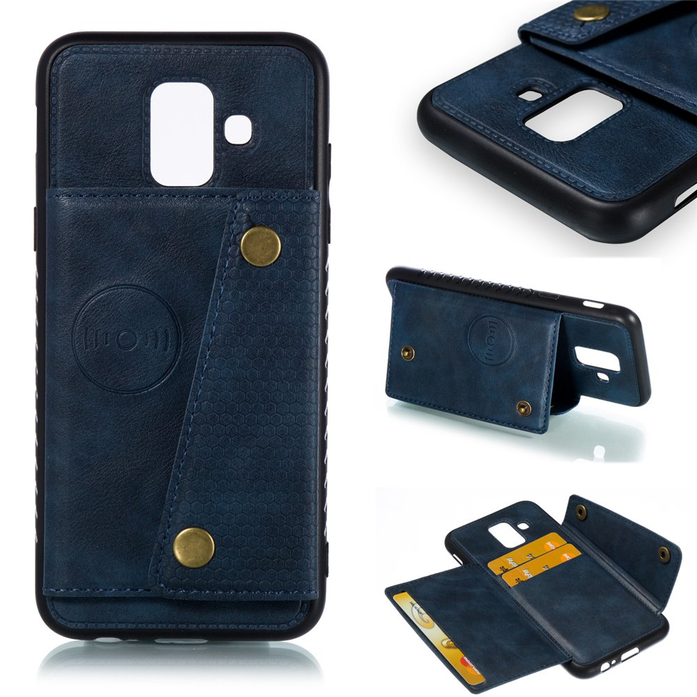 huge selection of 1bb42 e6646 zukabmwus Samsung Galaxy A6 2018 Wallet case, Samsung Galaxy A6 2018 Flip  case, Classy Slim Leather Wallet, ID Credit Card Slot Holder for Samsung ...