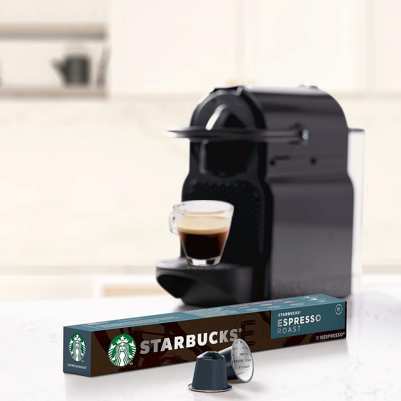 STARBUCKS Decaf Espresso Roast de NESPRESSO Cápsulas de café de tostado intenso, 8 x tubo de 10 unidades