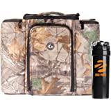 6 Pack Fitness Bag Limited Edition Realtree Innovator 500 Camo (5 Meal) W/ Zogosportz Black/Neon Orange Cyclone Shaker