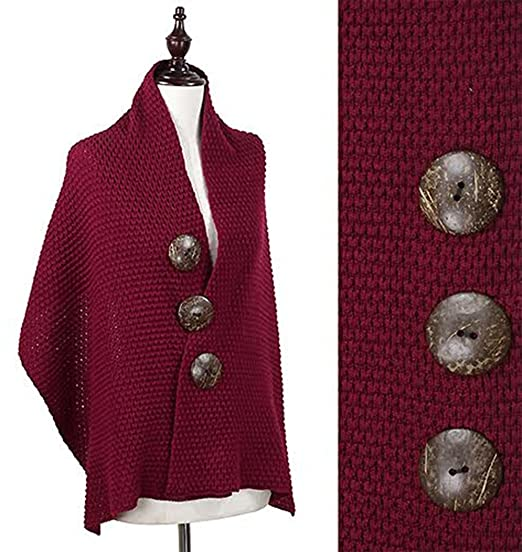 dc71b129bff4 StylesILove Oversized Coconut Buttons Knitted Cardigan Sweater