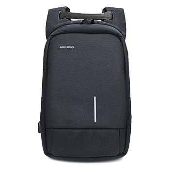 Pomelo Best Mochila de Portátil, Mochila Antirrobo Impermeable【Rasguño Resistente】con Puerto de Carga USB para Ordenador y Móvil.