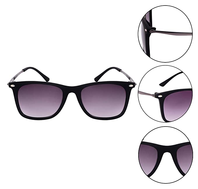 57e7f81e5 TheWhoop Stylish Black UV Protected Goggles Wayfarer Sunglasses For Men And  Women: Amazon.in: Clothing & Accessories