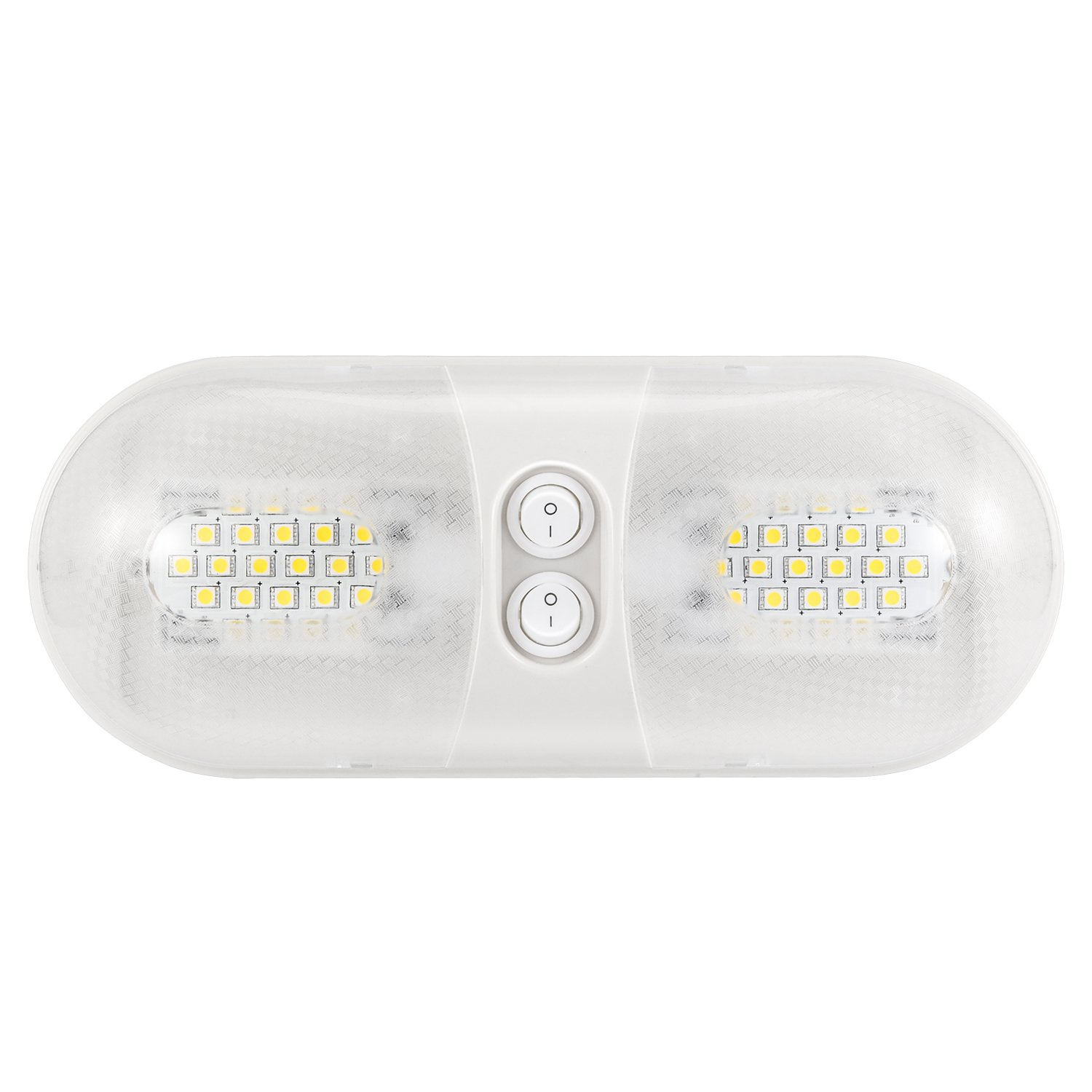 Kohree 12V LED RV Ceiling Dome Light Fixture, RV Interior Lighting for Trailer Camper with Switch Natural White