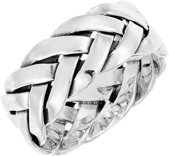 6 mm 925 Sterling Silver Anillo Abierto Trenzado salto para la fabricación de joyas 8-7