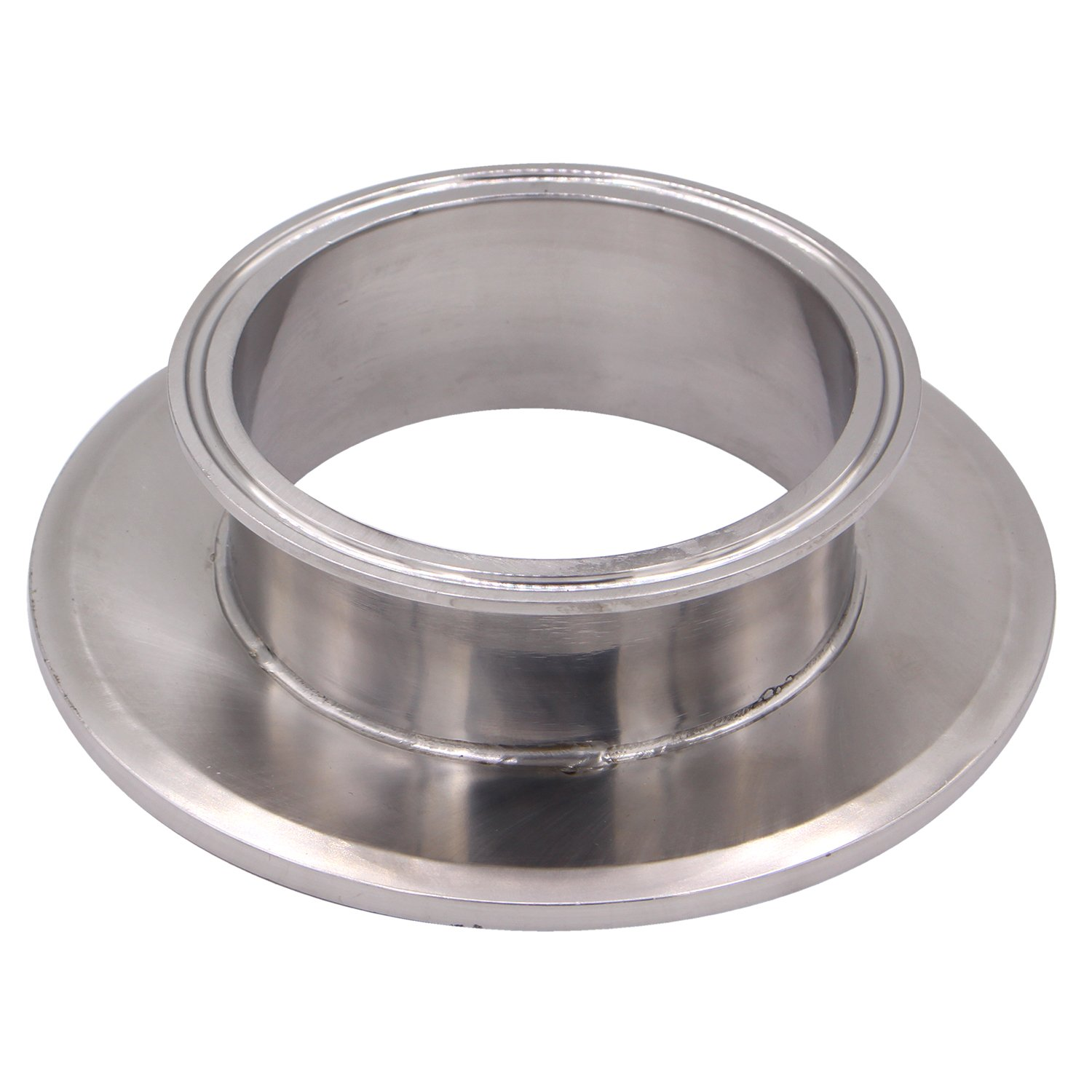 DERNORD Sanitary Concentric Reducer Tri Clamp Clover Stainless Steel 304 Sanitary Fitting End Cap Reducer (Tri Clamp Size: 6 inch x 4 inch)