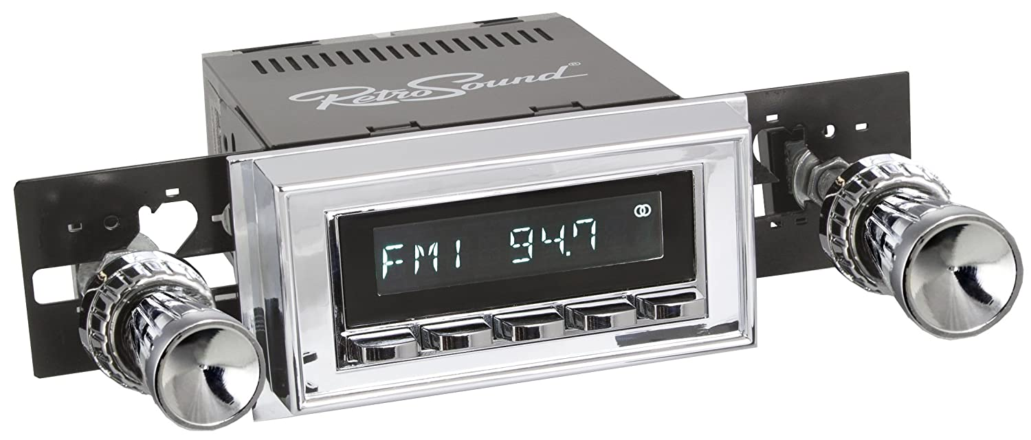 Chrome Face and Buttons, Chrome Bezel RetroSound HC-126-09-74 Hermosa Direct-Fit Radio for Classic Vehicles