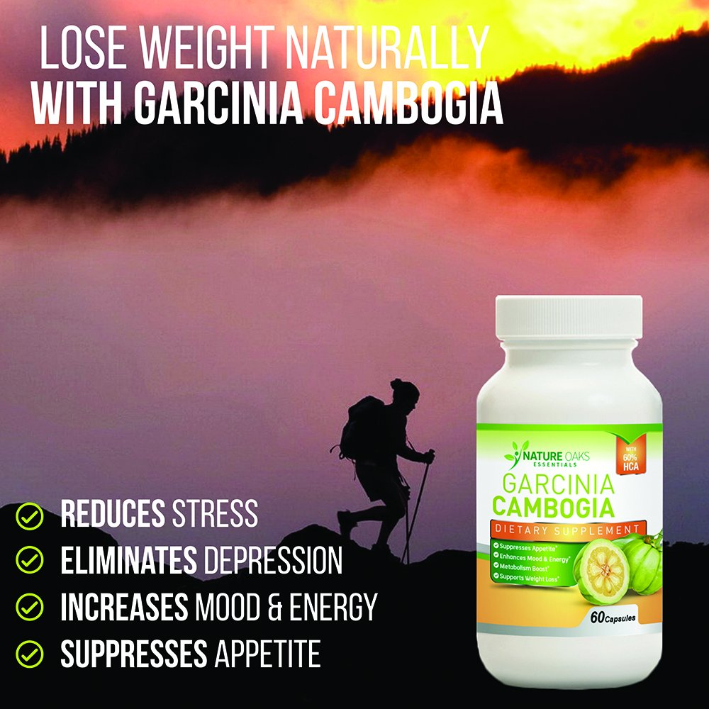 Pure Garcinia Cambogia Extract, Fat Burner - Appetite Suppressant and Fat Burner by Nature Oaks Essentials - Fat Blocker, 60 Capsule Count, 1000Mg Garcinia Cambogia Capsules by Nature Land Candles (Image #6)