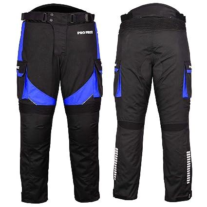 Motorcycle//Motorbike Big Pocket Waterproof Removable Cordura Textile Trouser Pant for Mens Boys Grey Women M