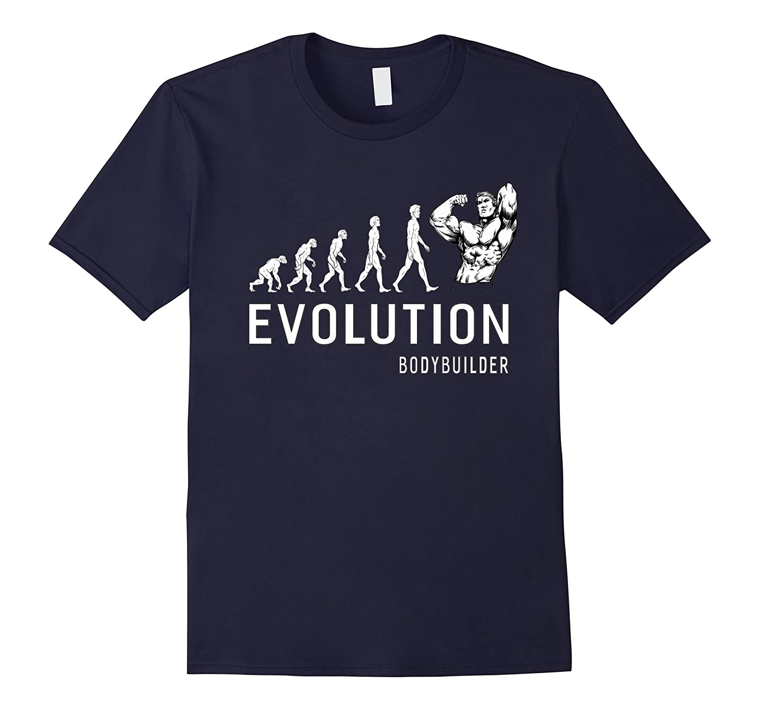 Bodybuilder Evolution Gifts For Gym Fan Men Fitness T-Shirt-TD