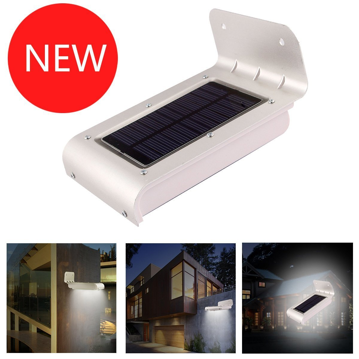 Solar Powered Garden Lights 16 LED Motion Sensor Detector Outdoor Security  Light Waterproof Home Yard Lamp (2015 Latest Version)     Amazon.com