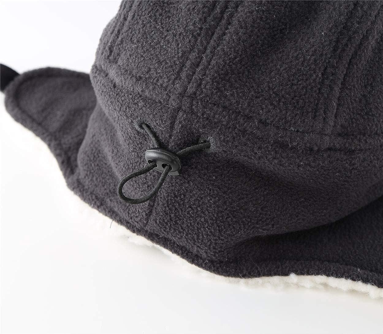 Magracy Toddler Boys Outdoor Windproof Winter Hat with Viosr Kids Warm Fleece Earflap Hats