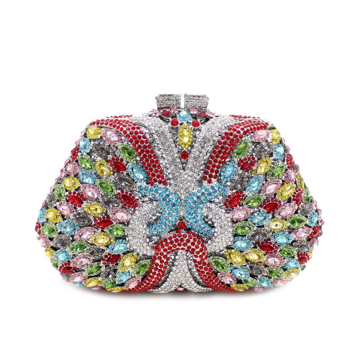 Flada Girl's and Ladies Luxury Handbag Evening Clutch Bag Rhinestones Clutch Purse for Prom Wedding #2