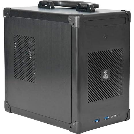 Lian Li PC-TU100 Midi-Tower Negro Carcasa de Ordenador - Caja de Ordenador (Midi-Tower, PC, Aluminio, Mini-DTX, Mini-ITX, Negro, 6 cm)