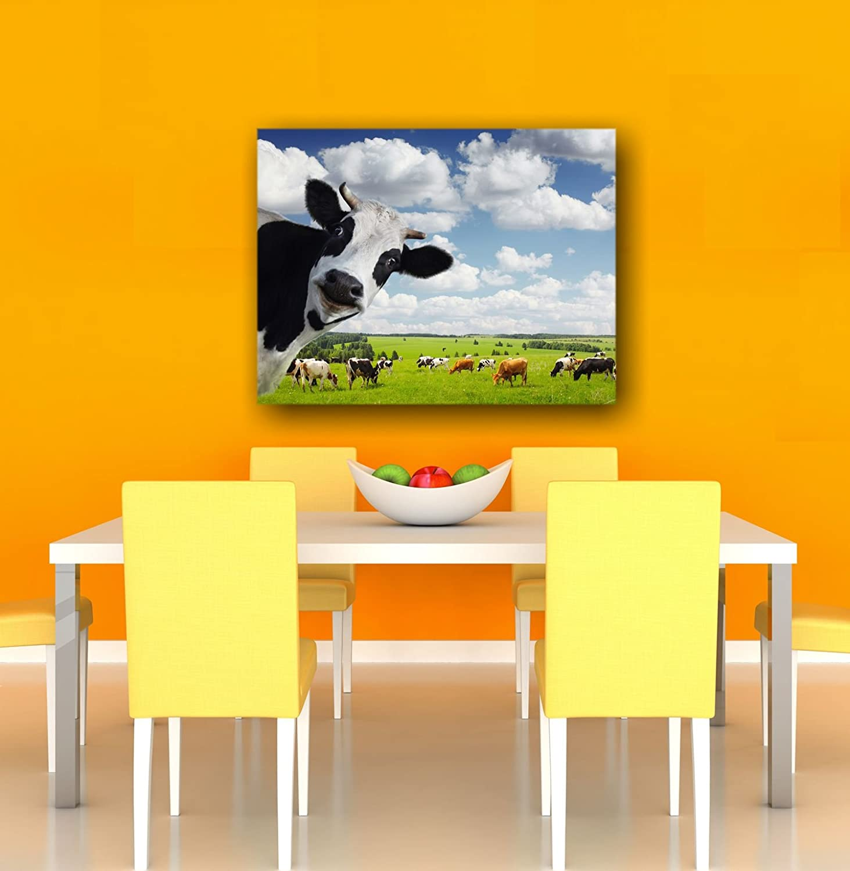 Leinwandbild Tiere Kuh (60 x 40 cm): Amazon.de: Küche & Haushalt